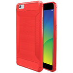 Flexi Carbon Fibre Tough Case for Oppo R9s - Brushed Red