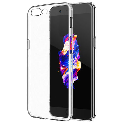Flexi Thin Crystal Gel Case for OnePlus 5 - Clear (Gloss Grip)