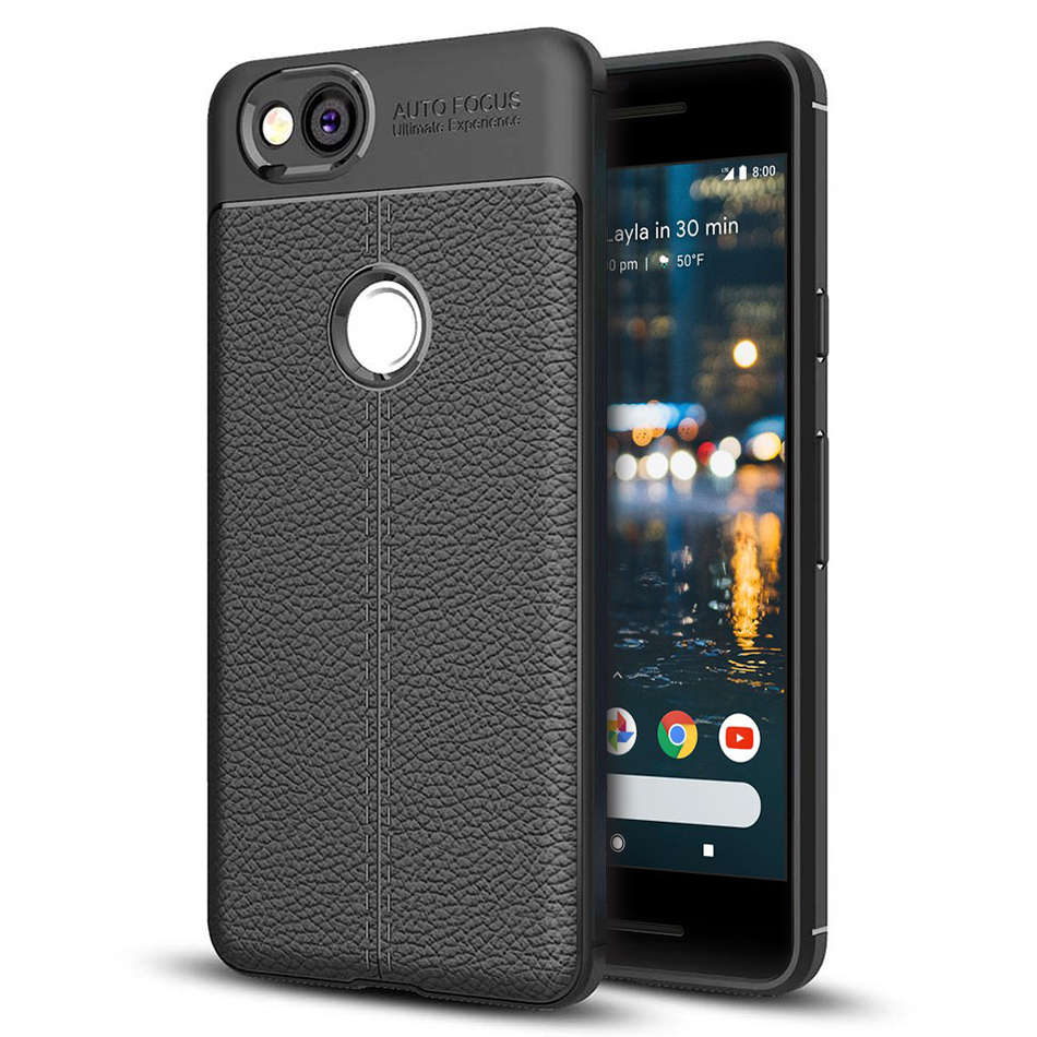 low priced 1be86 95f7a Flexi Litchi Texture Case for Google Pixel 2 (Black)