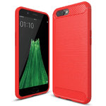 Flexi Carbon Fibre Tough Case for Oppo R11 - Brushed Red