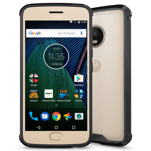 Hybrid Fusion Bumper Case for Motorola Moto G5 Plus - Black Frame