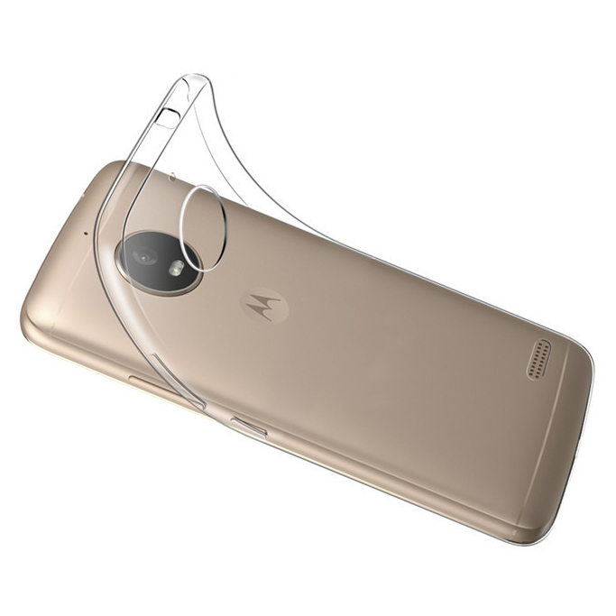 buy popular 98ea2 688e4 Flexi Slim Gel Case for Motorola Moto E4 (Clear)