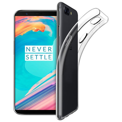 Flexi Ultra Slim Clear Gel Case for OnePlus 5T (Transparent)