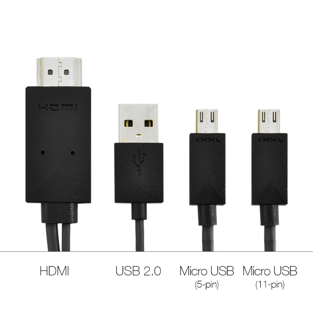 MHL Micro USB To HDMI Cable For Samsung Galaxy Tab 3