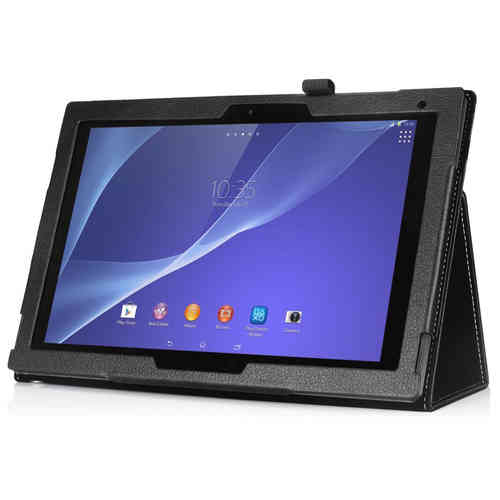 Smart Folio Leather Case & Stand for Sony Xperia Z2 Tablet - Black