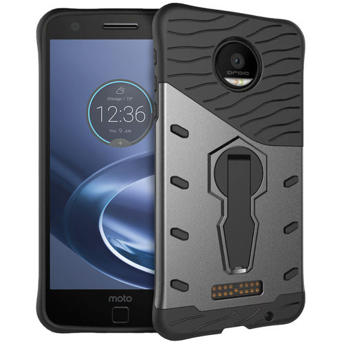 Slim Shield Tough Shockproof Case for Motorola Moto Z Force - Black