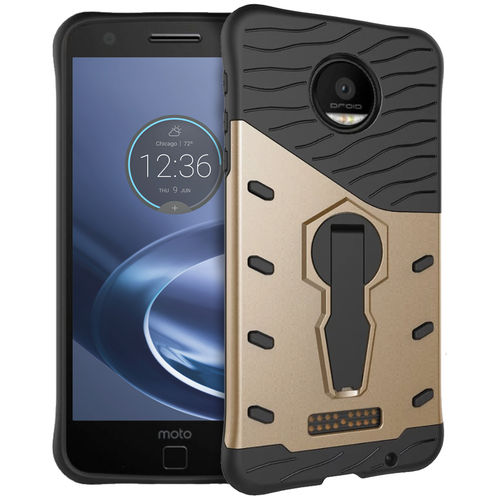 Slim Shield Tough Shockproof Case for Motorola Moto Z Force - Gold
