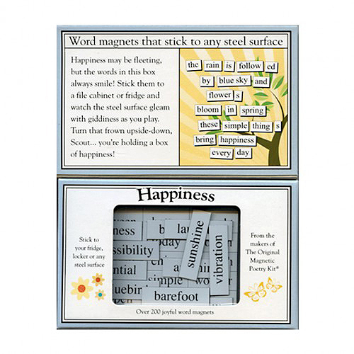 A Word Of Happiness: Words & Letters For Refrigerators