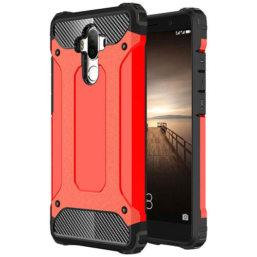 Military Defender Tough Shockproof Case for Huawei Mate 9 - Red