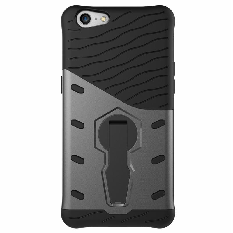 info for 25617 ea5a3 Slim Shield Tough Shockproof Case - Oppo A57 (Grey)