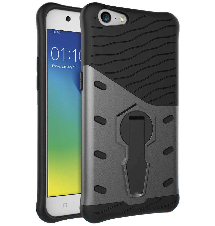 info for d4b7e 13ee5 Slim Shield Tough Shockproof Case - Oppo A57 (Grey)