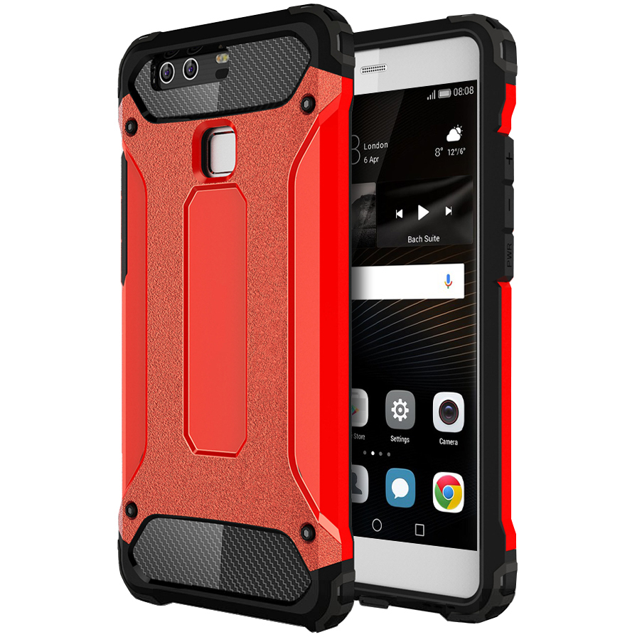 buy popular 5330f 61ad1 Military Defender Tough Case for Huawei P9 (Red)