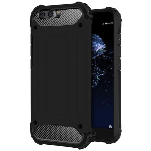 Military Defender Shockproof Case for Huawei P10 Plus - Black