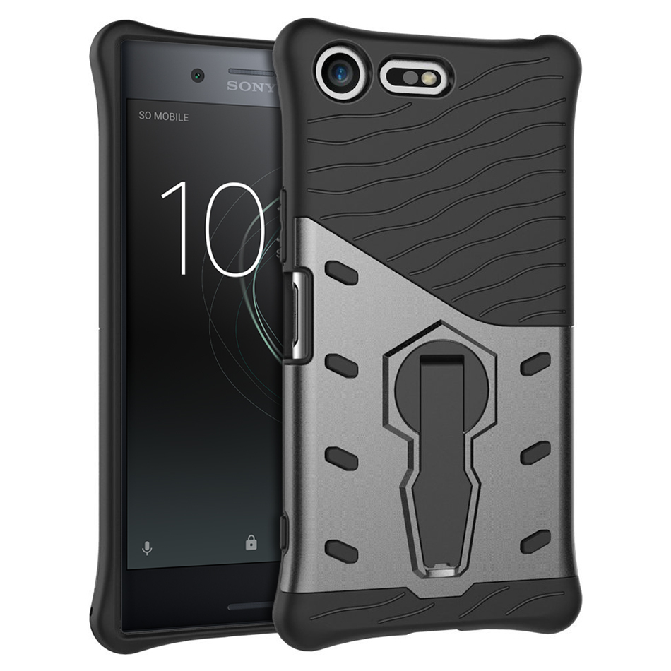 half off 16eb3 3bc39 Slim Tough Shockproof Case - Sony Xperia XZ Premium (Grey)