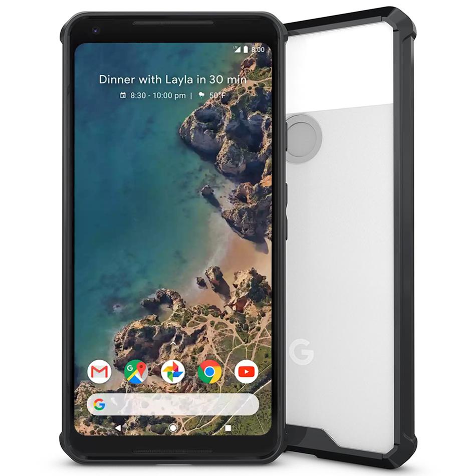 super popular a61b2 dd531 Hybrid Acrylic Hard Case for Google Pixel 2 XL (Black)