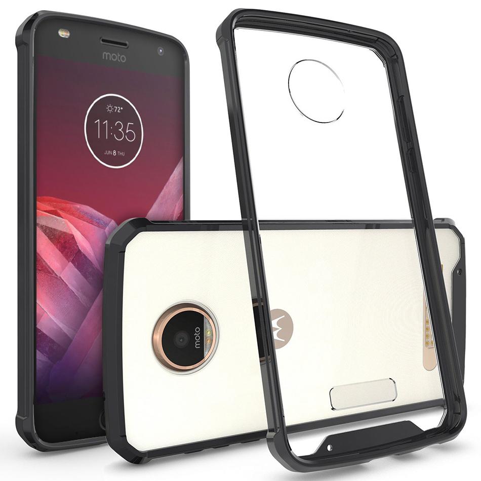 quality design b49c0 2710c Hybrid Frame Bumper Case - Motorola Moto Z2 Play (Black)