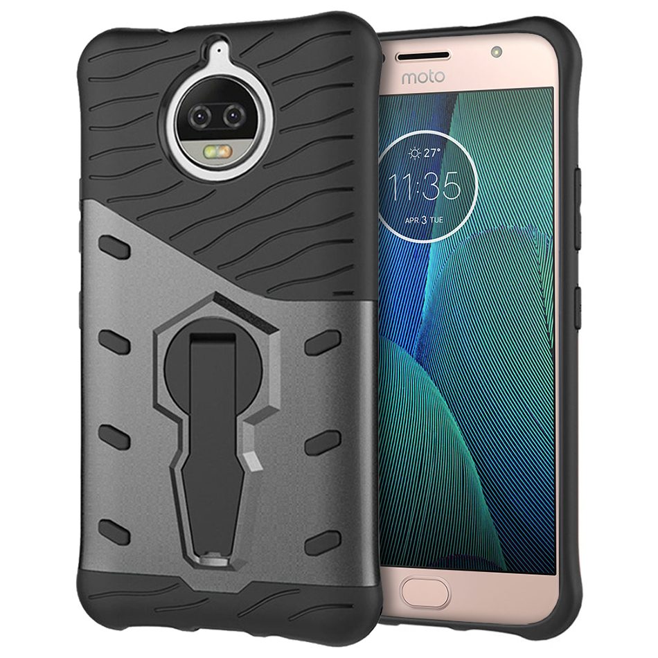 the best attitude 3b590 05ed5 Slim Shield Shockproof Case - Motorola Moto G5S Plus (Grey)