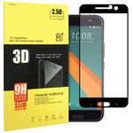 Full Coverage Tempered Glass Screen Protector for HTC 10 - Black Frame
