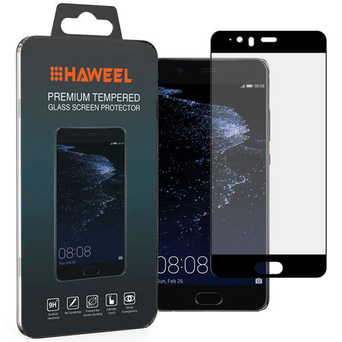 Full Fit Tempered Glass Screen Protector for Huawei P10 Plus - Black