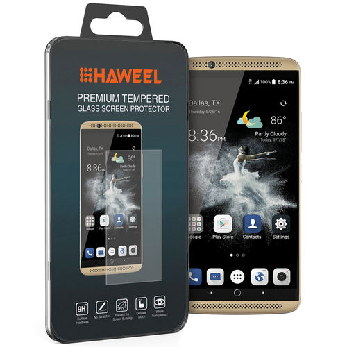 Haweel 9H Tempered Glass Screen Protector for ZTE Axon 7 - Clear
