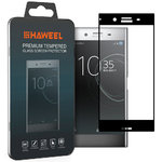 Full Tempered Glass Screen Protector - Sony Xperia XZ Premium - Black