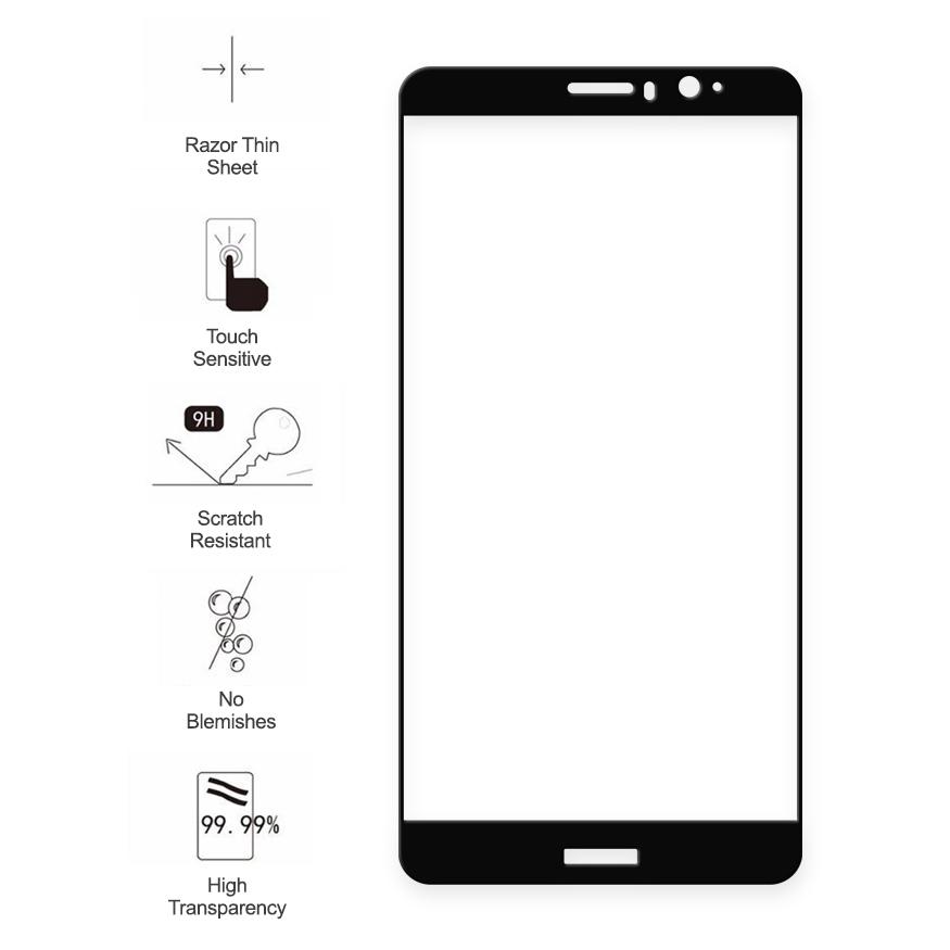 Full Tempered Glass Screen Protector - Huawei Mate 9 (Black)
