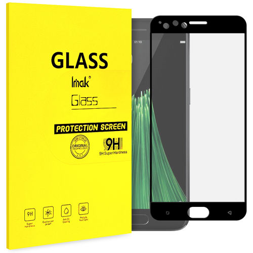 Full Coverage Tempered Glass Screen Protector for Oppo R11 - Black