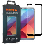 Full Coverage Tempered Glass Screen Protector for LG G6 - Black Frame