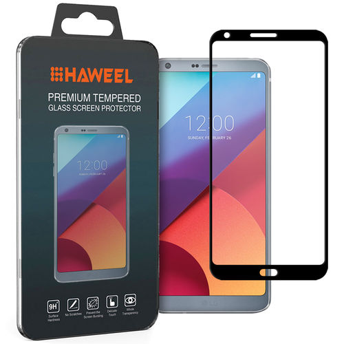 Full Coverage Tempered Glass Screen Protector for LG G6 - Black