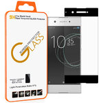 Black Full Coverage Tempered Glass Screen Protector - Sony Xperia XA1