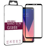Full Coverage Tempered Glass Screen Protector for LG V30 Plus (Black)