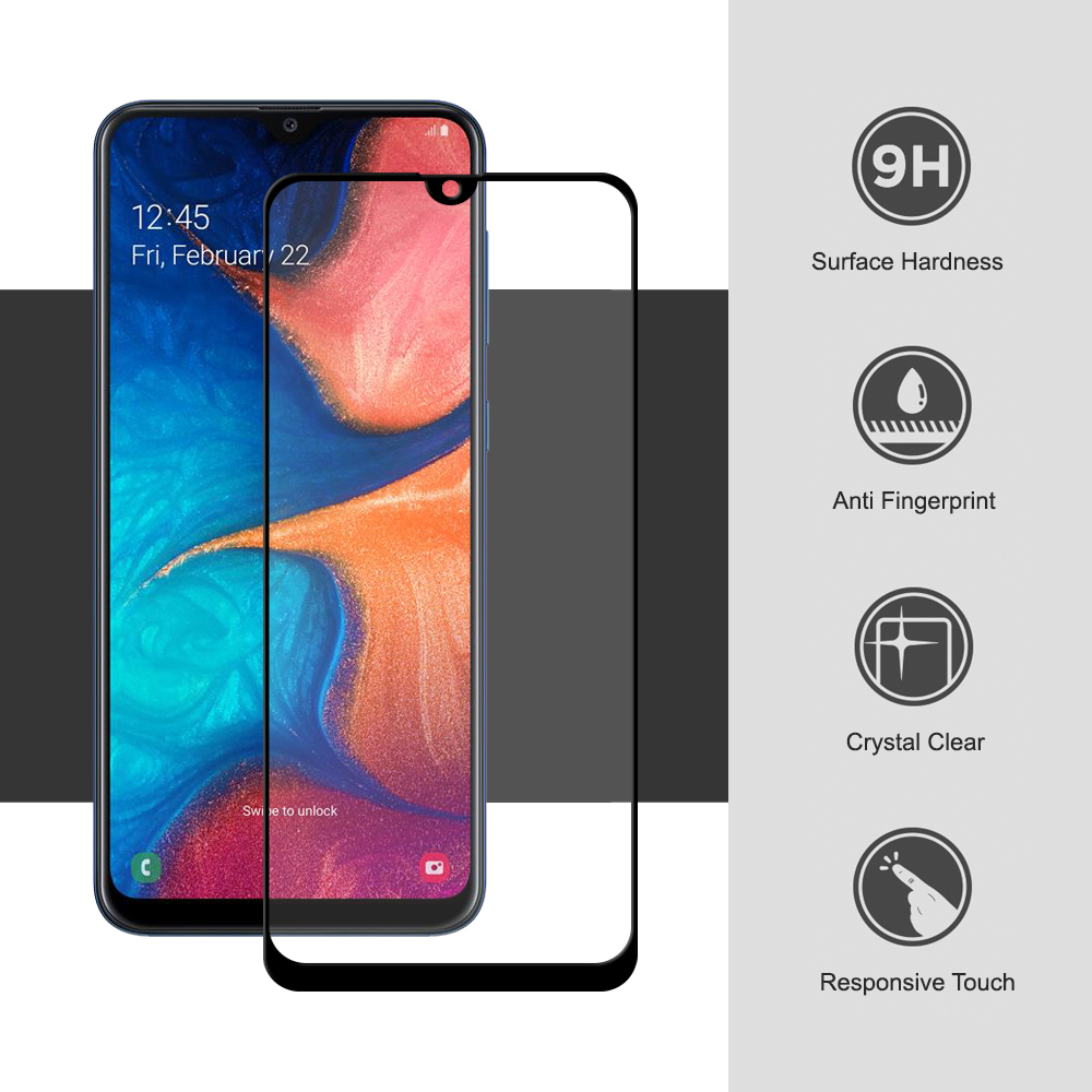 Full Tempered Glass Screen Protector - Samsung Galaxy A20 ...