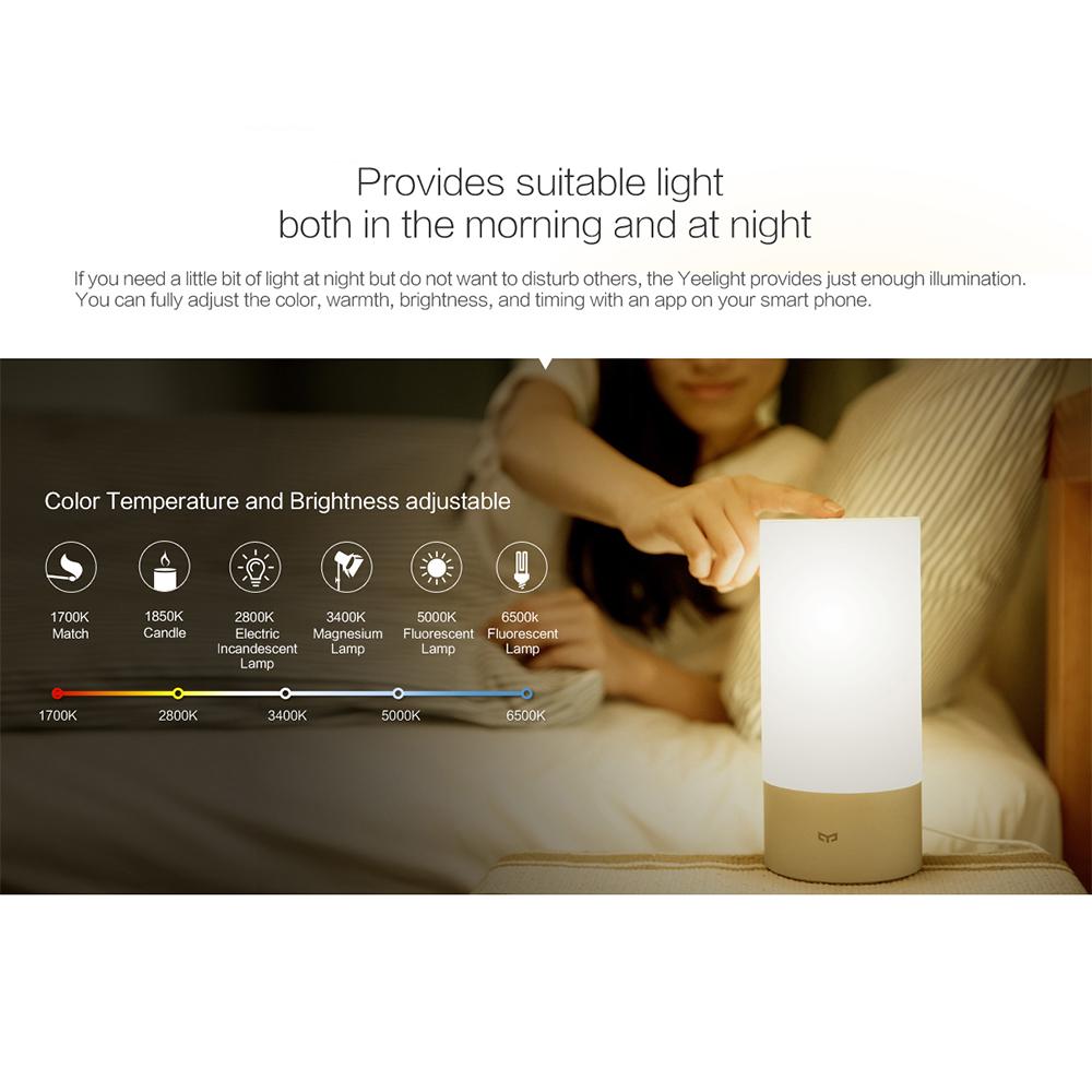 Xiaomi Yeelight Bedside Lamp Dimmable Night Light