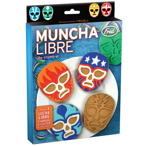 Fred & Friends Muncha Libre Wrestler Cookie Cutter & Stamps
