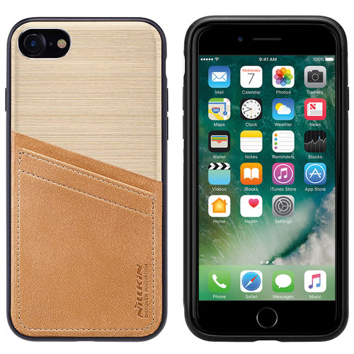 Nillkin Classy Card Slot Leather Case for Apple iPhone 8 / 7 - Gold
