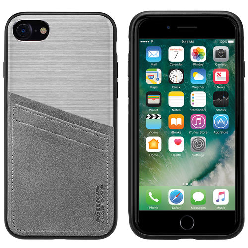 Nillkin Classy Card Slot Leather Case for Apple iPhone 8 / 7 - Silver