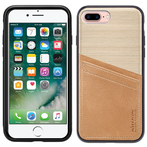 Nillkin Classy Card Leather Case - Apple iPhone 8 / 7 Plus - Gold