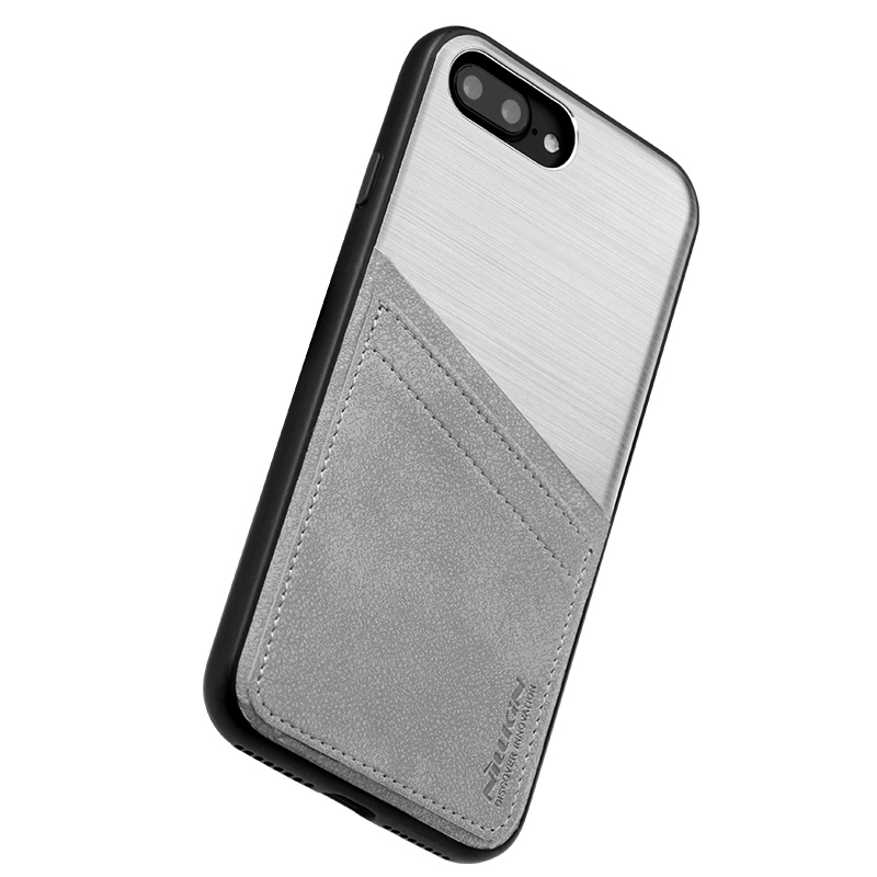 ... Nillkin Classy Card Leather Case - Apple iPhone 8   7 Plus - Silver ... 888c0a88c