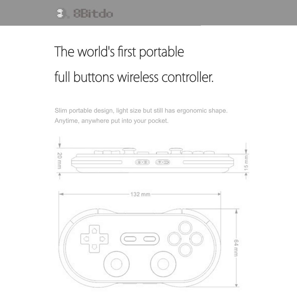 8Bitdo N30 Pro Wireless Bluetooth Game Controller