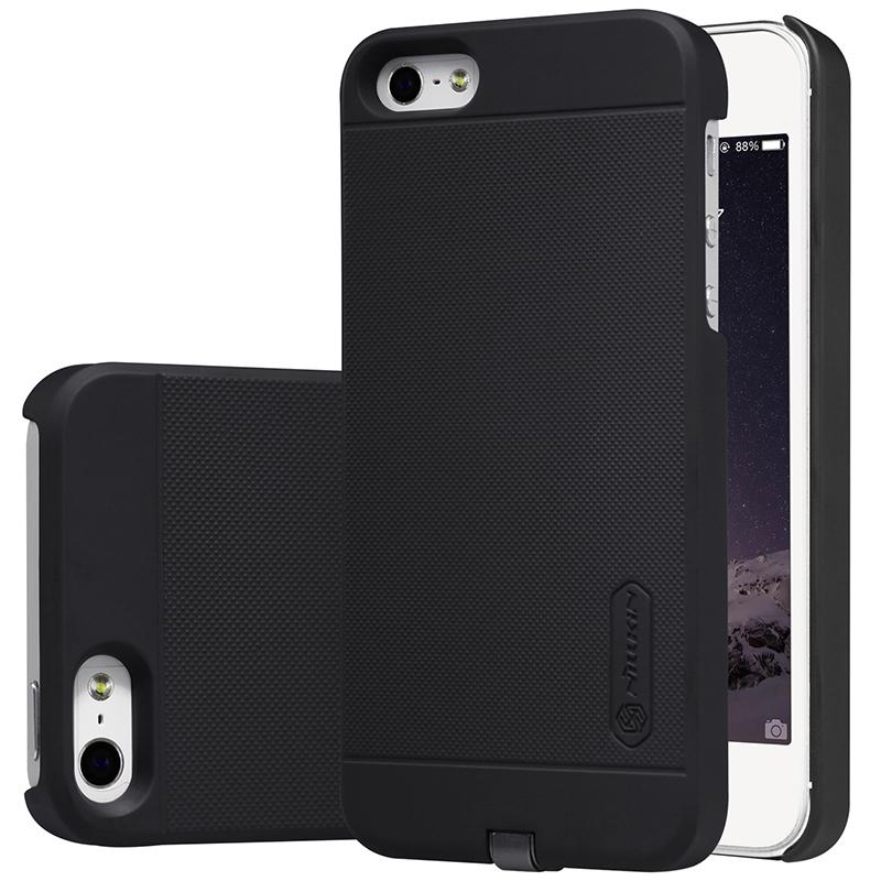 nillkin wireless charging case apple iphone 5s se black. Black Bedroom Furniture Sets. Home Design Ideas