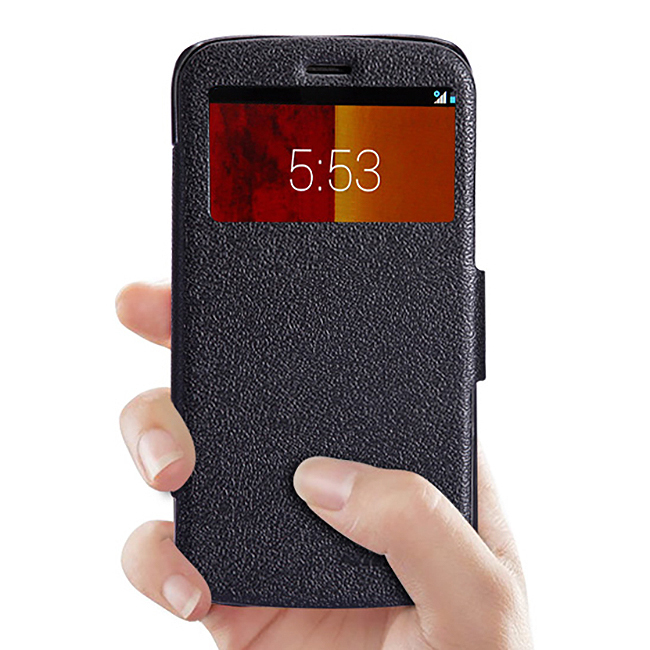 wholesale dealer 291a2 b1e4b Nillkin Fresh Leather Flip Case for Motorola Moto G (1st Gen) - Black