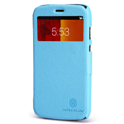 huge discount 62186 42f9c Nillkin Fresh Leather Flip Case for Motorola Moto G (1st Gen) - Blue