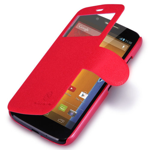 best sneakers 344ed b69e1 Nillkin Fresh Leather Flip Case for Motorola Moto G (1st Gen) - Red
