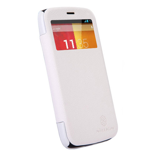 Nillkin Fresh Leather Flip Case for Motorola Moto G (1st Gen) - White