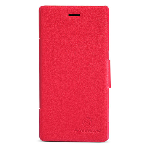 Nillkin Leather Flip Case - Sony Xperia M - Red