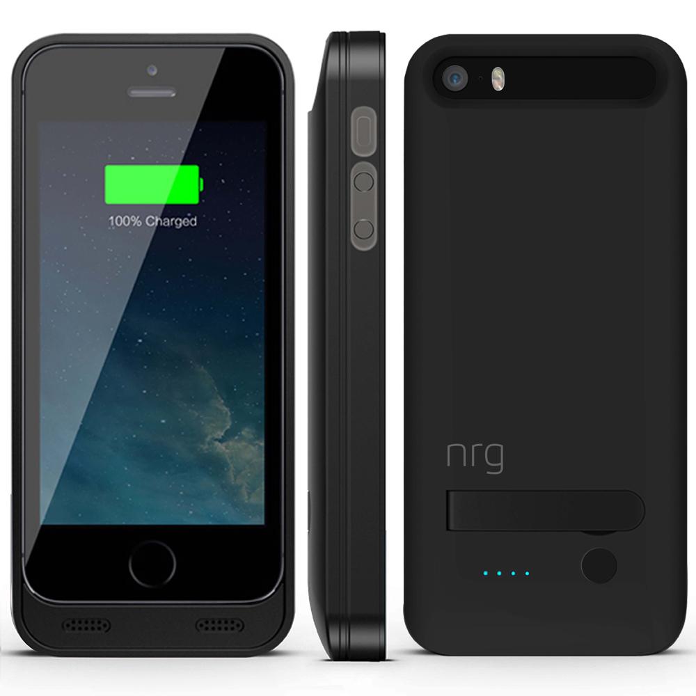 nrg 2400mah battery case apple iphone 5s black. Black Bedroom Furniture Sets. Home Design Ideas