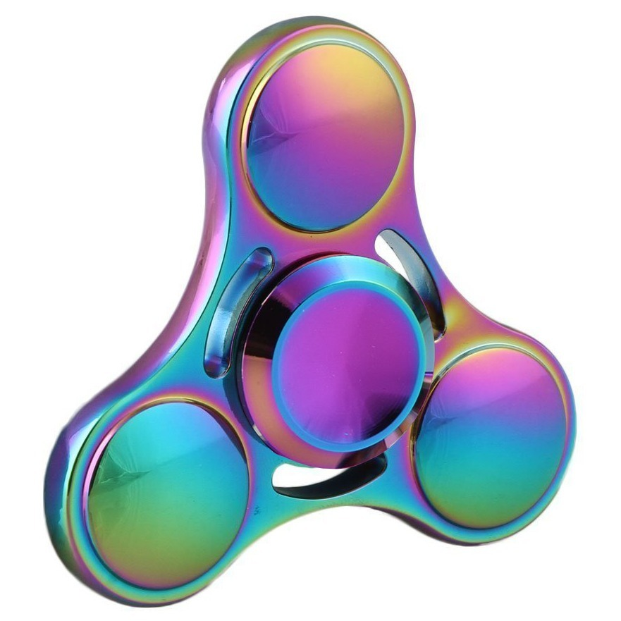 Zinc Alloy Rainbow Fidget Spinner 3 Side Orb Ufo