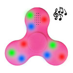 Bluetooth Fidget Spinner with Speaker & Colourful LED Lights - Pink