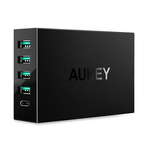 Aukey PA-Y5 (54W) 5-Port USB Type-C Fast Charger + Quick Charge 3.0