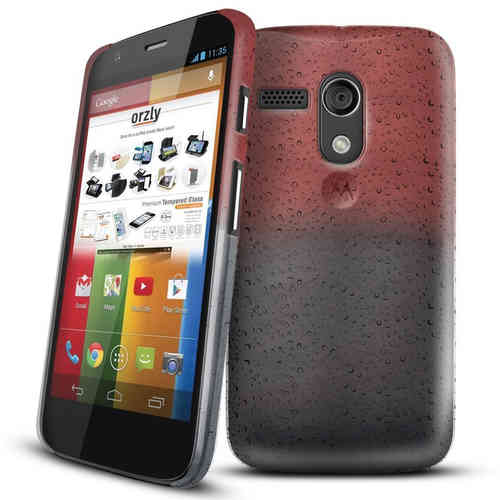Orzly Raindrop Texture Hard Case for Motorola Moto G 1st Gen - Brown